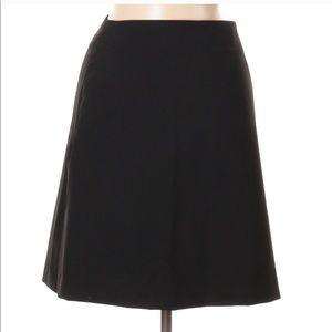 Theory Black A Line Wool Skirt